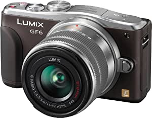 Panasonic DMC-GF6KEG9T LUMIX Systemkamera (16 Megapixel, 7,6 cm (3 Zoll) LCD-Display, Full HD) inkl. H-FS1442AE-S Lumix Vario Objektiv chocolate