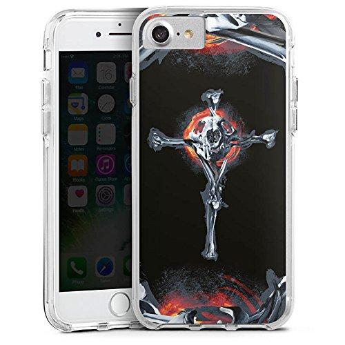 Apple iPhone 6 Bumper Hülle Bumper Case Glitzer Hülle Lion Knochen Bones Bumper Case transparent