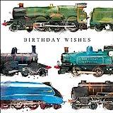 Greeting Card (CM7265) Male Birthday - Birthday Express - Steam Trains