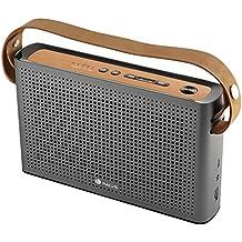 NGS Roller Byron - Altavoz Bluetooth de 20 W, entrada auxiliar, radio FM, cargador USB, 5V/1A, sonido 360º