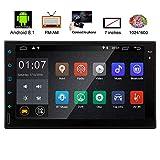 Android 8.1 Dash Headunit Autoradio Quad-Core-Doppelt-L?rm-Auto-Video-Spieler GPS-Navigation 7 Zoll Touch-Screen-Auto-Stereoradioempf?nger Unterst¡§1tzung Bluetooth-Bildschirm Verbindung Kamera-Einga