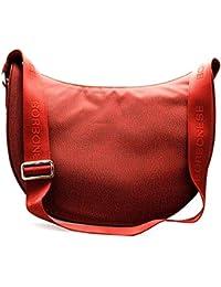Borbonese Luna Bag Middle, Borsa a Tracolla Donna, 30x32x12 cm (W x H x L)