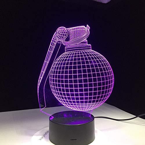 WangZJ 3d Nachtlichter Für Kinder Kinder Nacht Lampe/spielzeug Für Jungen / 7 / led Dekoration/Spielzeug Geschenke/idee Weihnachtsgeschenk/Boogie Bombe Design