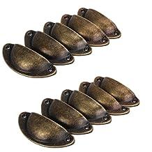 10pcs Tirador Tiradores de pomos para puerta, diseño vintage de hierro decoración