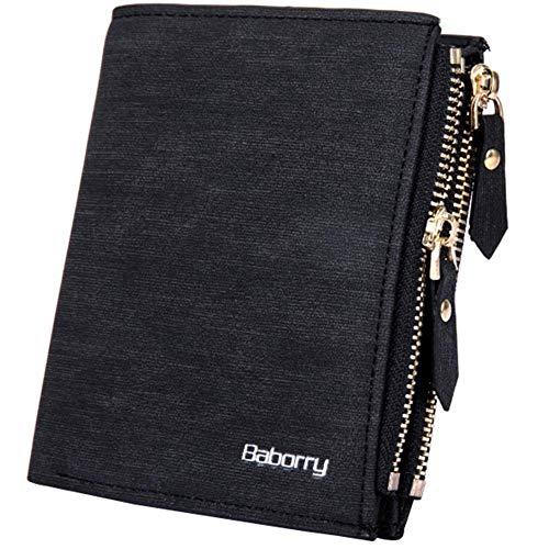 popchilli Men's Wallet Kombibörse Coin Wallet Organizer Mini Geldbörse Kreditkartenetui Bag Portable Slim Wallet Mit Münzfach -Zipper Coin Bag Anti-Radio Anti-Magnetic
