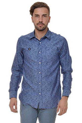 M.Conte Men Shirt Hemden Herrenhemd Freizeithemd Valerio Blau