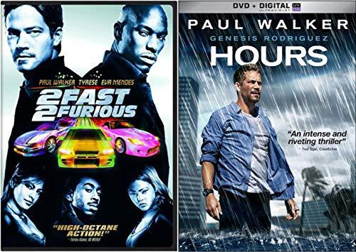 Memorial Paul Walker Double Down: 2 Fast 2 Furious & Hours (Double Feature Movie DVD Bundle)