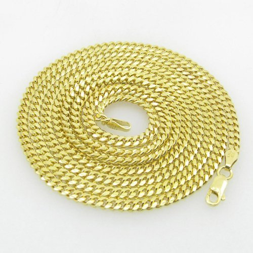 IcedTime-Silver-Necklace italienischem Sterling Silber Cuban Link Kette Länge–91,4cm Breite–3mm
