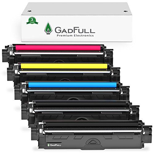 GadFull 5 Pack Toner kompatible mit Brother HL-3140CW | 3142CW | 3150CDW | 3170CDW | MFC-9130CW | 9140CDN | 9330CDW | 9340CDW | 9020CDW | Entspricht dem Original TN-241 / TN-245 | 2500 Seiten -
