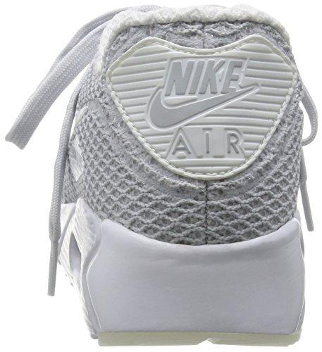 Nike Air Max 90 Ultra Br Plus Qs, Chaussures de Running Entrainement Homme, Bleu Multicolore - Plata / Blanco / Azul (Pure Platinum / White-Racer Blue)