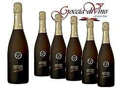 Idea Regalo - 6 Bottiglie PROSECCO MILLESIMATO VAL D'OCA 750 ML VALDOBBIADENE