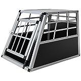 Jalano Hundetransportbox S Auto Gitterbox Kleine Hunde Alu Hundebox Kofferraum, Farbe:schwarz
