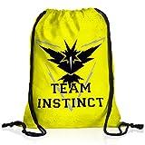 CottonCloud Team Instinct Rucksack Tasche Turnbeutel Sport Jute Beutel Gelb Instinkt