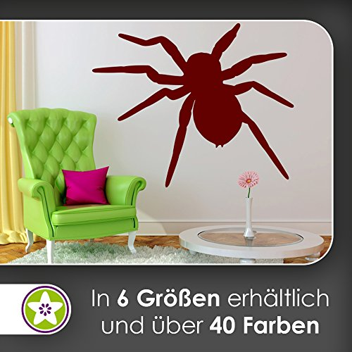 KIWISTAR Spinne - Spinnweben Vogelspinne Zecke Wandtattoo in 6 Größen - Wandaufkleber Wall Sticker