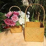 iBaste Blumenkorb Hochzeit Vintage Korb Blumenmädchen