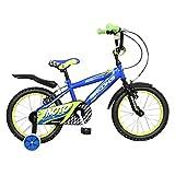 #7: Brooks MotoRace 16 Bike, Kids One Size (Blue/Green)