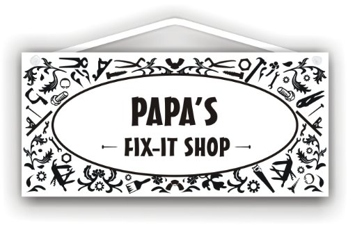 Papa's Fix-It Shop - indoor/outdoor sign by MySigncraft (Papa Fix)