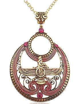 Rose Gold Fuchsia Farvahar faravahar Halskette iranischen Persisch Iran Persien Art