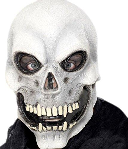 Kostüm Gold Zubehör Zahn (Halloweenia - Erwachsene Skelett Maske, Halloween, Kostüm Zubehör,)