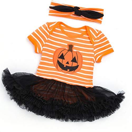 Cdrox 2ST Neugeborenes Baby-Spielanzug-Kleid mit Stirnband Halloween Foto-Stütze