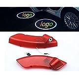 Sunshine Fly 2pieza coche LED Auto Puerta Logo sombra de bienvenida luz puerta puerta de iluminación luz einstieg iluminación proyector láser Door Puerta brilla Logo Proyección luces para Opel Antara