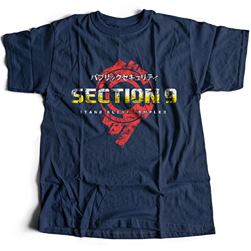 9403n Section 9 Mens T-Shirt Ghost In The Shell Hanka Robotics Stand Alone Complex Public Security Sac