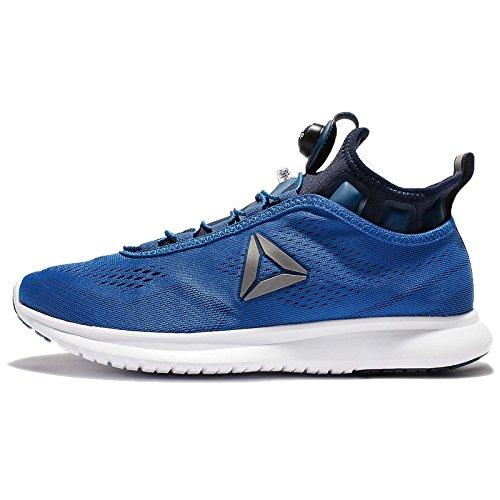 Reebok Herren Pump Plus Tech Laufschuhe, Blau (Awesome Blue/Collegiate Navy/Running WHI), 42.5 EU
