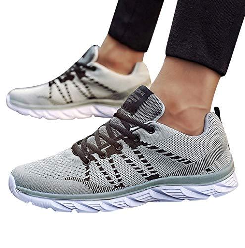 TWBB Sale ! Herren Sportschuhe Sneaker Casual Lace up Freizeitschuhe Outdoor Atmungsaktives Mesh Turnschuhe Sneakers rutschfest Leichte Laufschuhe Shoes -