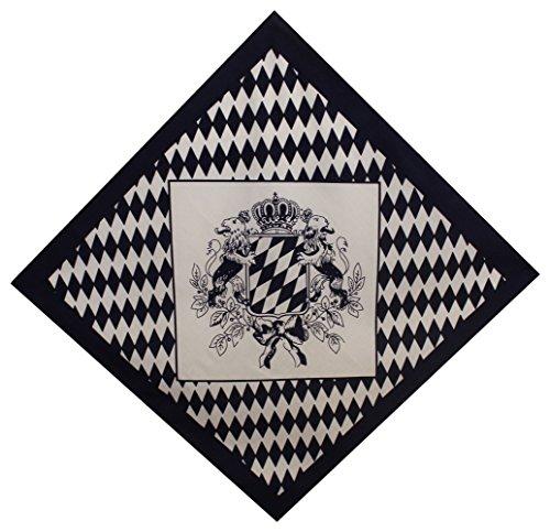 Tobeni 548 Bandana Kopftuch Halstuch Nickituch in 100 Baumwolle für Damen und Herren Farbe Bayern Wappen gross Grösse 54 cm x 54 ()