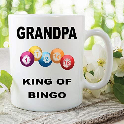 Bingo-Tasse Opa King of Bingo Geschenk für Opa Geburtstag Neuheit Tasse Bingo Liebhaber Geschenke Weihnachten Vatertag lustige Tasse