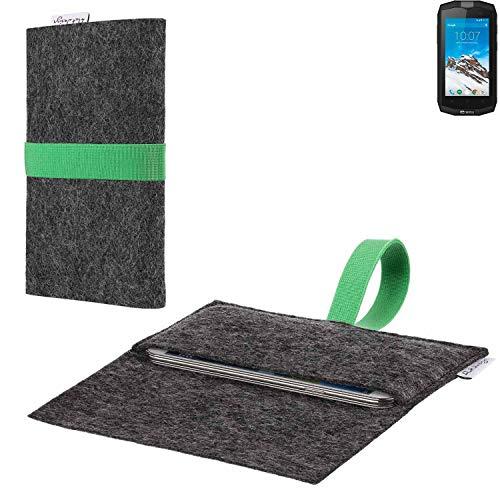 flat.design vegane Handy Hülle Aveiro für Crosscall Trekker M1 passgenaue Filz Tasche Case Sleeve Made in Germany