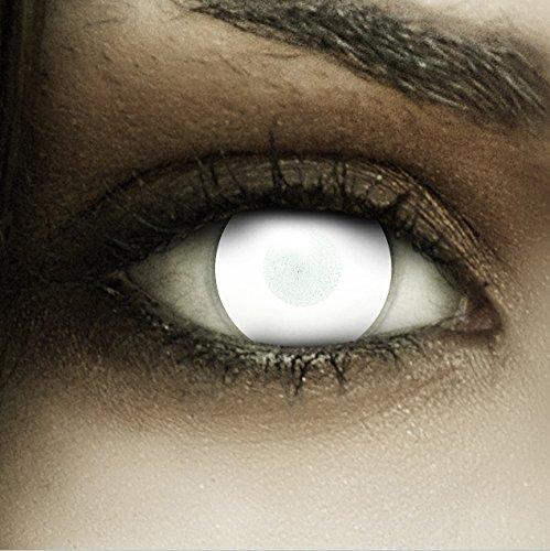Farbige weiße Kontaktlinsen Dead Zombie