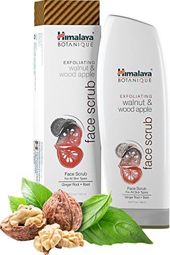 Himalaya Botanique Exfoliating Walnut & Wood Apple Face Scrub, 5.07oz/150ml - Ingwer und Basilikum Gesichtspeeling und Porenreiniger für alle Hauttypen (Exfoliating Walnut & Wood Apple Scrub)