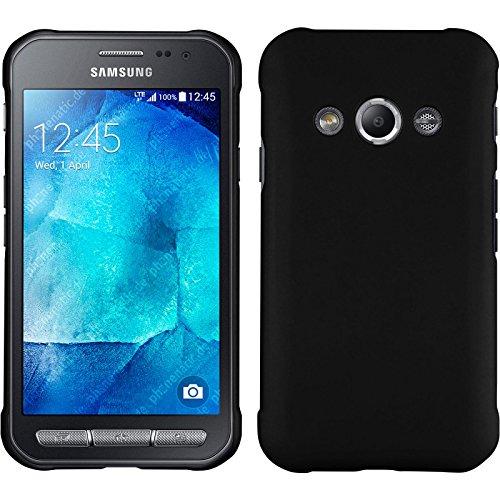 PhoneNatic Case für Samsung Galaxy Xcover 3 Hülle schwarz gummiert Hard-case + 2 Schutzfolien