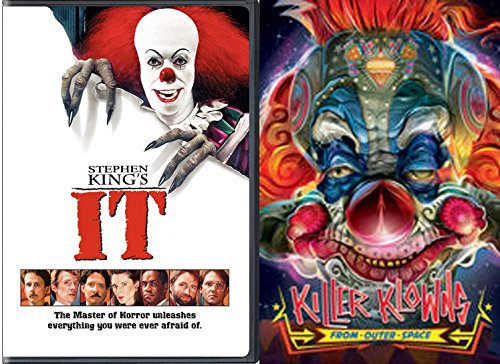 Clowns Attack Movies 2-DVD Bundle - Killer Klowns from Outer Space + Stephen King's It Double Feature (Klowns From Space Killer Outer)