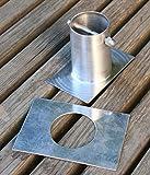 'Verbindung aus Aluminium-Kette Regen A Dachrinne H 3�Recht