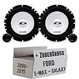 Ford S-MAX/Galaxy Front o di poppa - Alpine sxe-1750 - 16 cm sistema altoparlante - mascherina