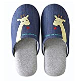 Familie Winter Warm & gem?tlich Indoor Schuhe Paar Cartoon Haus Slipper, D