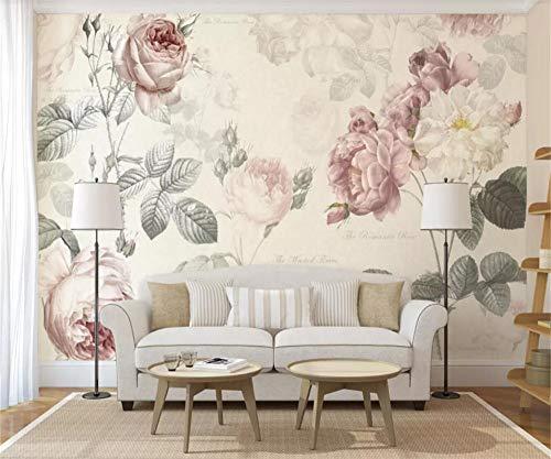 Fototapete 3D Effekt Tapeten Rose Vintage Vliestapete Wandbilder Wallpaper Dekoration