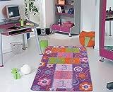 Carpemodo bambini tappeto Play Full/multicolore/120x 180cm/certificato Oeko-Tex Standard