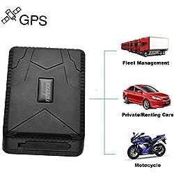 TKSTAR TK915 Tracker GPS Voiture Temps de veille 120 jours Traceur Localisation Véhicule en Temps Réel Localisateur GPS/A-GPS/lbs Traceur Antivol Voiture Moto Vélo(Noir)