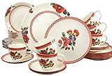Creatable 19516-Servizio Combinato Sunny Summer, Pezzi, Porcellana, Multicolore, 30 Teilig
