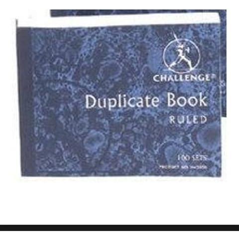 Challenge Duplicate Book, senza carta carbone, a righe, 105 x 130 mm, numerati 1-100