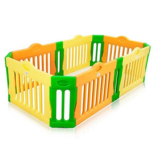 BABY VIVO Box per Bambini Sicurezza Barriera Pieghevole Recinto Plastica Parte principale Rettangolo - Estensibile