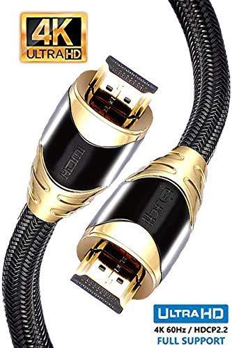 4K HDMI Kabel 0,75M HDMI 2.0b Kabel 4K@60Hz HighSpeed 18Gbps Nylon Geflecht Vergoldete Anschlüsse mit Ethernet/Audio Rückkanal,Kompatibel mit Video 4K UHD 2160p,HD 1080p,3D Xbox PS4 - IBRA Black