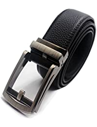 b1a702fc0b7e1 Mens Rachet Dress Belts Black with Automatic Sliding Buckle Click Belt Fits  up to 44