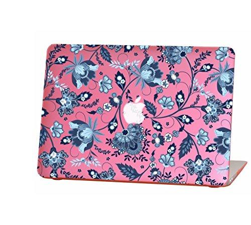 für 33cm MacBook Air Modellnummer A1369und A1466, Jacobean Flower Pattern Design mit der Pink Bottom Case, mit Tastatur Cover ()
