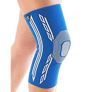 NEO G Airflow Plus Knee Support - XX-LARGE - Blue - Medical Grade Quality sleeve, Multi Zone Compression, lightweight, breathable, HELPS strains, sprains, weak & arthritic knees - Unisex Brace