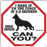 Wooden Plaque Sign German Shepherd 2.8 Seconds Sign