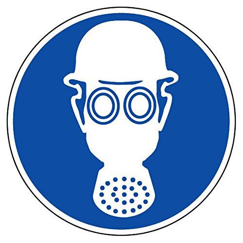 novap–Piktogramm–Helm und Schutzbrille Obligatorisch–Brett 10Piktogramme Klebemittel) Durchmesser 40mm–-Brett 10Piktogramme Durchmesser 40mm